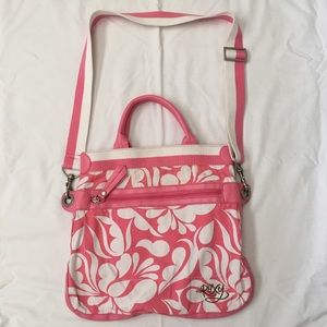 ROXY HAWAIIAN 🌺 CANVAS/VEGAN LEATHER CROSSBODY